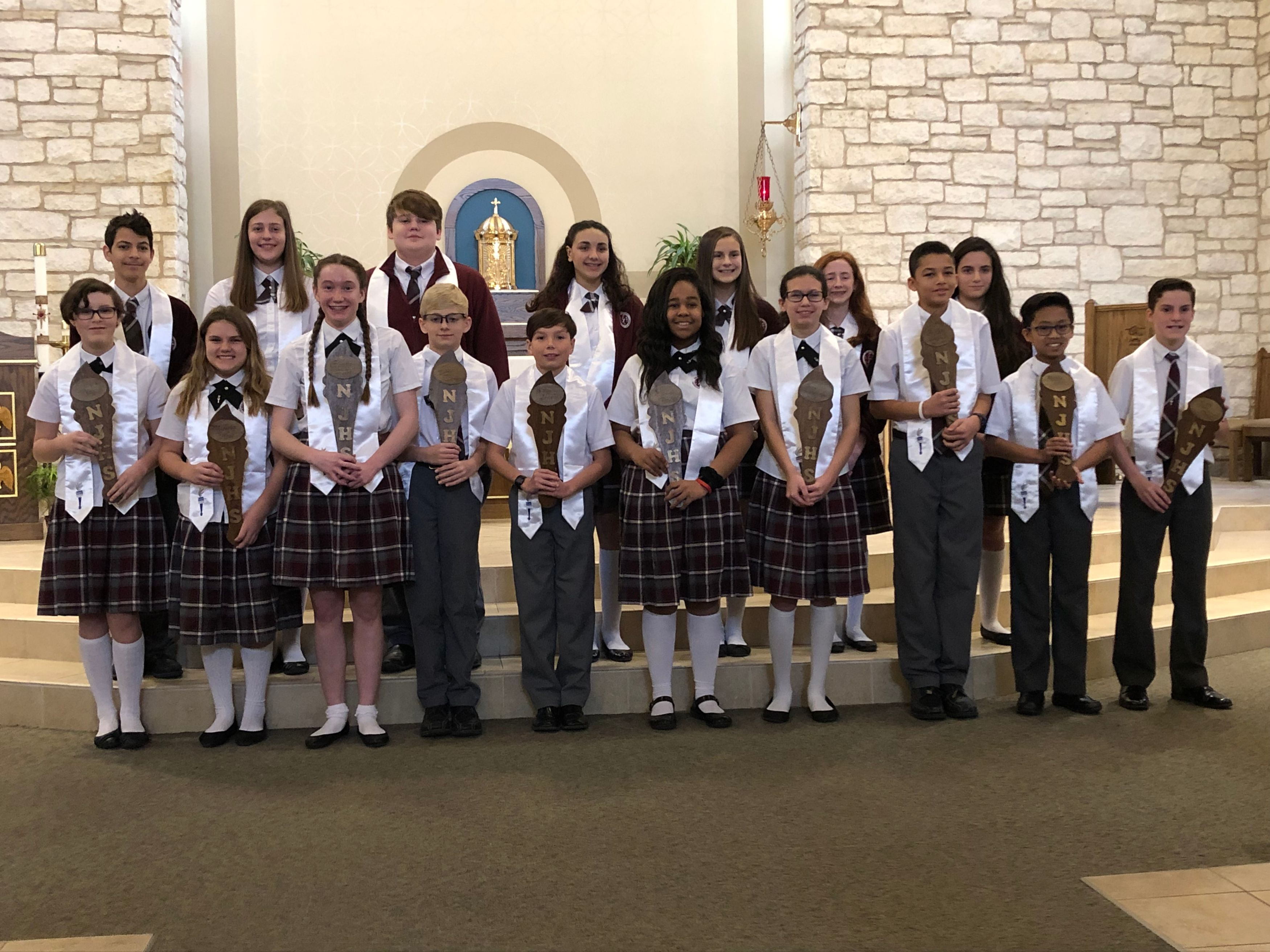 NJHS Members Receive Torches